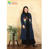 Quality Adults Casual Chinese Style Winter Coats Embroidered Anti Shrink For Outdoor for sale