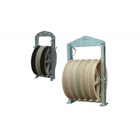 Buy cheap 508*110mm Three Nylon Wheels Bundled Conductor Pulley from wholesalers