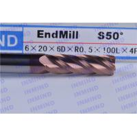 Buy cheap 10mm Dia Corner Radius End Mill Cutter / Corner Rounding Tool For Grinding Machine product