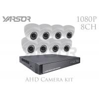 China 2MP 3.6mm Lens CCTV Dome Camera Kits , 1080P Wireless Security Camera System With DVR on sale