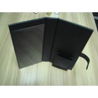 China Foldable Brown, black and blue PU paperback book cover, Hotel Information Folder on sale