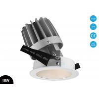 Buy cheap 15W Dimmable COB Adjustable 4.5 Inch  Round Recessed Aluminum  LED Downlight Cutout Size 110mm product