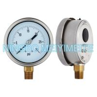 Buy cheap Fillable Hydraulic Oil Pressure Gauge Stainless / Brass Material With Blow Out Disc product