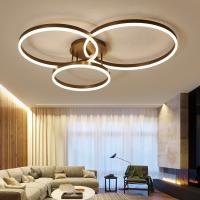 China Drop Black ceiling light panels Ring Ceiling lamp For indoor home Lighting (WH-MA-95) on sale