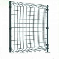 Buy cheap Triangle Bending Welded Wire Fence , Square Shape Curved Steel Mesh Fencing product