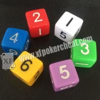 Buy cheap Customizable Gambling Accessories / Permanent Point Casino Game Dice from wholesalers