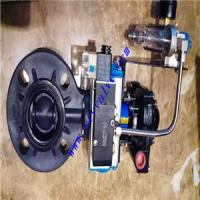 Factory direct sales plastic pvc butterfly valves with pneumatic actuator