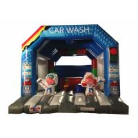 Quality Wide Inflatable Car Wash Themed Jump House Inflatable Children Bounce With Slide for sale