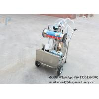 Buy cheap moblie milking machine for goat with single stainless steel milk bucket from wholesalers