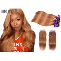 Buy cheap Gold Blonde Straight Hair Bundles For Girls Colored 30 Human Hair Bundles Customized Logo product