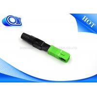 Buy cheap FTTB FTTX Network Fiber Optic Fast Connector SC APC Insertion Loss 0.3dB from wholesalers