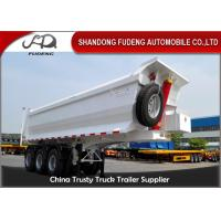 Buy cheap 3 Axle Dump Semi Trailers  , Hydraulic Cylinder Tipping / Tipper Trailer product