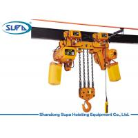 Buy cheap Heavy Capacity Double Lift Speed Lifting Chain Hoist Yellow Color High Safety from wholesalers
