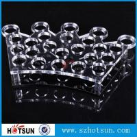 Buy cheap Factory directly acrylic shot glass tray,most popular product clear acrylic shot glass tray ,acrylic serving tray product