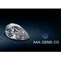 Pear Cut Moissanite Loose Gemstones , Synthetic Created Moissanite loose diamond Manufactures