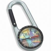 Buy cheap Compass with Carabiner, Fit for Travel, Available in Size of 6.9 x 3.0 x 0.8cm product