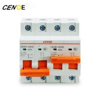 Quality For Electric Vehicle 1/2/4P Interlocking 1-125A EV DC Power Circuit Breaker MCB for sale