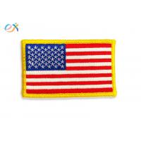Buy cheap Iron On Backing Embroidered American Flag Patch US Military Style With Merrow Border product