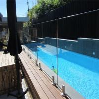 Buy cheap Glass Pool Fence with Certificates / Baby Pool Fence Glass Railing Outdoor Frameless Railing product
