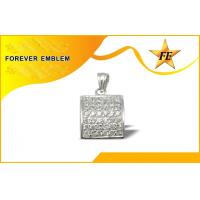 Buy quality Fashion Custom Metal Charms Pendant With Stones , Die Cast Zinc Alloy at wholesale prices