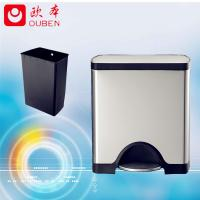 Buy cheap factory directly sale stainless steel square trash bin/JC25-A product