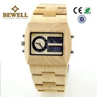 Maple Men Wooden Watches , bewell wooden wrist watch for promotion