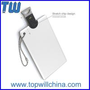 Metal Credit Card USB Flash Drive Device High Quality Printing Free Ball Chain