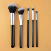Buy cheap Nylon Material Full Makeup Brush Set Powder Eye Shadow Brushes Wood Handle from wholesalers