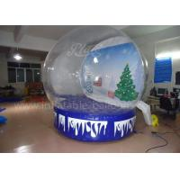 Customized Inflatable Advertising Balloons , Clear PVC Xmas Inflatable Snow Igloo