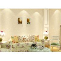 Buy cheap Gold and Gray floral removable wallpaper , modern art wallpaper home design from wholesalers