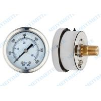 Buy cheap 63mm  Liquid filled pressure gauge with brass movement , phosphor bronze tube product