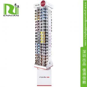 Buy cheap Advertising pop display shelf Corrugated Paper rotating sunglasses display rack from wholesalers
