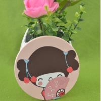Lovely Girl 2d/3d Silicone Cup Coaster / Heat Resistant Table Placemat For