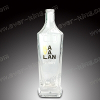 SGS Screen Printing Crystal White Whiskey Glass Bottle for sale
