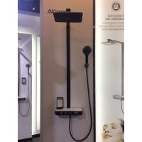 Buy cheap shower set with bracket Foshan supplier 2019 NEW black colour luxury rain shower AT-P003B 3 functions product