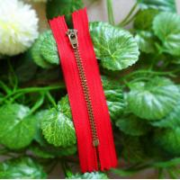 Buy quality No 5 Metal Zippers close  end Semi-auto Lock YG Slider With High Polished Teeth at wholesale prices