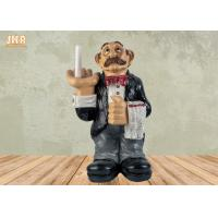 Buy cheap Polyresin Butler Sculpture Toilet Paper Holder Funny Resin Waiter Home Decoration product