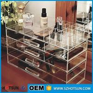 Buy cheap Acrylic cosmetic makeup organizer/ makeup brush display/ makeup brush holder product