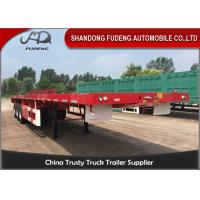 Buy cheap 3 Axles 40ft Container Flatbed Trailer With 12 Twist Locks Flat Bed Semi Trailer from wholesalers