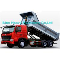 336HP HOWO Heavy Duty Dump Truck, red, white and blue colors, ZZ3257M3247N, 6x4