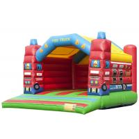 Buy cheap Fire Truck Inflatable Blow Up Jump House , Indoor Inflatable Bouncer 6.5 * 5.2 * 4.5m product