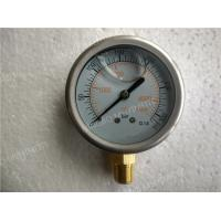 Buy cheap 63mm  Liquid Filled Manometer , Glycerin Filled Pressure Gauge with 304SS Dull Case product