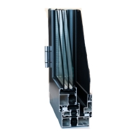 Buy cheap Black Electrophoretic 6063 Aluminum Window Profiles With Mesh Section product