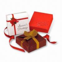 Buy cheap Gift Boxes, Suitable for Advertising Purposes, Made of Gray Board, Available with Printing product