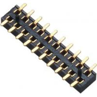 Buy cheap 2.00mm Female Header Connector Double Row SMT PA9T Black  Board to Wire connection product