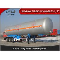 Buy cheap 30 Tons LNG / LPG Tank Trailer For Flammable Liquid Transport Fuwa / BPW Axle from wholesalers