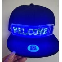 China send message by phone bluetooth LED message cap rechargeable Fashion LED rolling message hat support gif dispaly led cap on sale