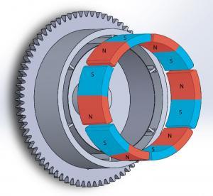 Buy cheap Durable Customized Flywheel Arc Shaped Segment Ferrite Magnet product