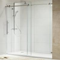 Buy cheap 304 Stainless Steel Sliding Glass Free Standing Shower Enclosure product