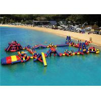 Buy cheap PVC  Interactive Floating Water Playground , Kids Blow Up Water Park Customized Size product